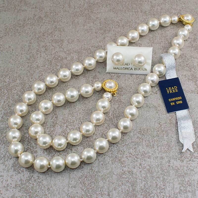 563899f746c1 Collar Aretes Pulsera Perlas Mallorca 12 Mm - Bisuel