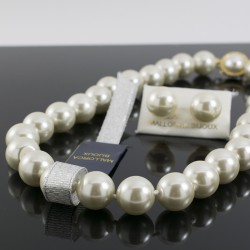 Juego Collar Perla Mallorca 14 mm Grande