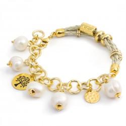 Pulsera Perlas Cultivadas Chapada Oro