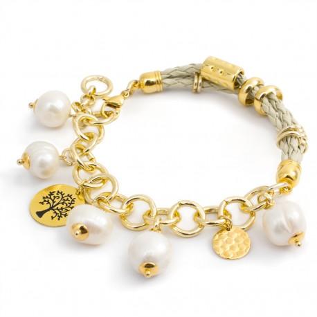 9b48247255cb Pulsera Perlas Cultivadas Chapada Oro - Bisuel