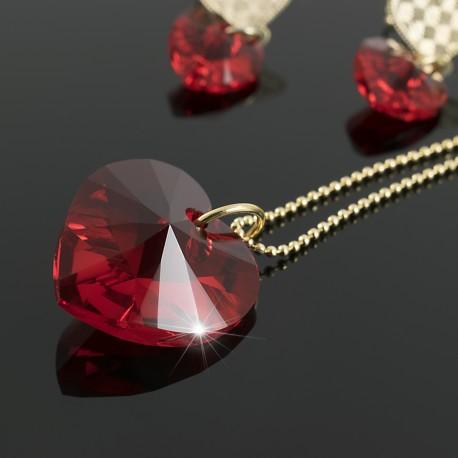 498d60bdb107 Juego Corazón Swarovski Rojo - Bisuel