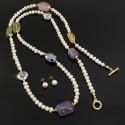 Collar Largo Perlas Cultivadas Cuarzos