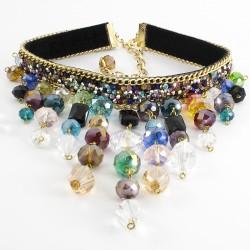 Maxi Collar Cristal Murano y Cristal Checo