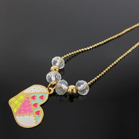 Collar Corazon Y Cadena Oro Goldfilled