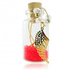 Collar Hojita Dorada Cadena Oro Goldfilled