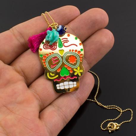 Collar Calaverita Mexicana