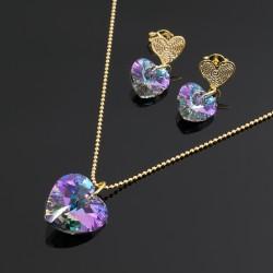 Collar Aretes Cristal Swarovski Vitral Ligth
