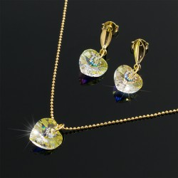 Collar Aretes Corazon Swarovski Boreal